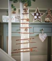 Funky Rustic Hanging Ladder Christmas Tree